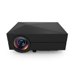 Wholesale Mini Av - Wholesale-Mini Portable HD LED Projector Home Cinema Theater PC VGA USB SD AV HDMI GM60 Free HDMI LINE