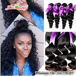 Wholesale 12 16 Indian Wave - Indian Hair Loose Wave Remy Hair 100% Human Hair Bundles 12-28 Inch Natural Color Free Shipping