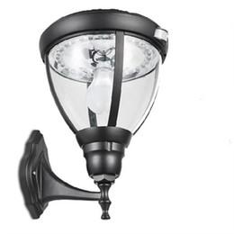 Canada Lampes murales solaires LED 36cm 31LEDs en alliage d'aluminium + verre capteur PIR puissance lampes de chemin de jardin en plein air étanche escalier cour parc éclairage Offre