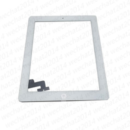 Wholesale Ipad2 Adhesive - Touch Screen Glass Panel Digitizer with Buttons Adhesive Assembly for iPad 2 3 4 Black and White