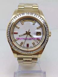 Wholesale President Ii - free shipping AAA Wrist watch Luxury Wristwatch New Mens President 2 II Solid 18 kt Yellow Gold 41MM Bigger Diamond Watch Mechanical Men Wa