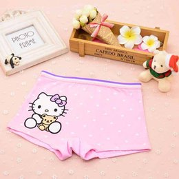 Wholesale Comfortable Baby Girl Clothes - 2017 Cute girl underwear briefs boxer hello Kitty cartoon children underwear comfortable Baby Kids Clothing Panties pants shorts 1482