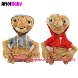 Wholesale Alien Comic - New ET Extra Terrestrial Alien Stuffed Plush Doll Hoodie Anime Cartoon Toy 25-30cm Red Grey Collection