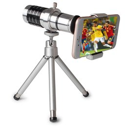 Wholesale Digital Cameras 12x Zoom - high quality digital optics 12x telephoto zoom lens with tripod for mobile phone camera iPhone htc samsung android
