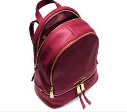 Wholesale Canvas Leather Zipper Backpack - M 2017 MllK Luxury brand women bag School Bags pu leather Fashion Famous designers backpack women travel bag backpacks laptop bag