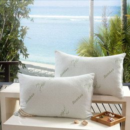 Wholesale Silk Fill - Wholesale- Microfiber Filled The Original Bamboo Hypoallergenic Pillow 27.5*18 inch White