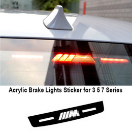 Wholesale Brake Decal - Styling Acrylic Brake Lights Sticker M Performance Stop Lamp Decal For BMW 3 5 7 Series E46 E90 E92 E93 F30 F10 M3