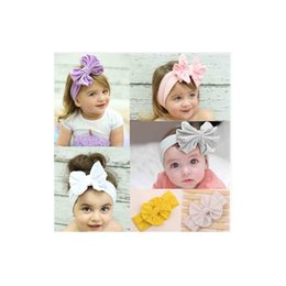 Wholesale Headbands Turban Style - Infant Toddlers Baby Solid Cotton Headband Kid Turban Silk Hair Band Multicolor Girl Styles hair wraps