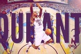 "Wholesale Basketball Cloths - Kevin Durant Basketball Star Fabric Poster 36""x 24"" Decor 006"