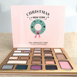 Wholesale Chocolate Drops Wholesale - Christmas in New York THE CHOCOLATE SHOP Eyeshadow Collection 24 Colors Christmas Limited Edition Eyeshadow palette Best Gift drop shipping