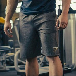 Wholesale Gym Workout Clothes - Wholesale- Fitness Men Gyms Short Pants Casual Trousers Little Elastic Jogger Shorts Cotton Runner Wear Workout Clothes