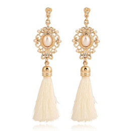 Wholesale Long Cheap Earrings - New Fashion 2016 Ethnic Style Chunky long Tassel Earring For Costume Party Pierced Cheap Earring Wholesale mulheres brinco
