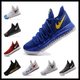 Wholesale Mens Gladiators - Best quality KD 10 PE Finals Game mens Basketball shoes for sale Kevin Durants sneakers free shipping size 40-46
