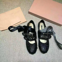 Wholesale Imports Europe - Ballet shoes are tied to Europe and imported Italian sheep leather in Paris fashion and leisure wear