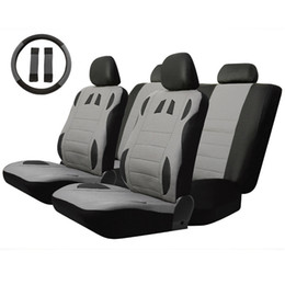 Wholesale cooler seat cushion - 13pcs Breathable to Keep Cool Universal Car Seat Cover Set Four Seasons Auto Cushion Interior Accessories Steering Wheel Wrap