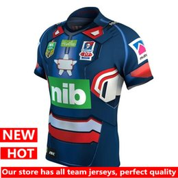 Wholesale Patriots Footballs - Hot sales Newcastle Knights 2017 Marvel Iron Patriot Jersey shirt football jersey Latest style sale Rugby Jerseys t-shirt S-3XL