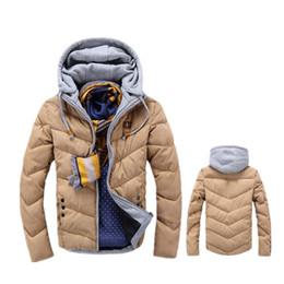 Wholesale Vintage Coat Xs - Wholesale- Warm Outwear Winter Jacket Men 2017 Fashion Solid Men's Windproof Hooded Down Jacket Male Pactchwork Casual Parkas Coat