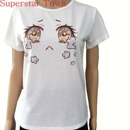 Wholesale Cherry T Shirt - Wholesale- Harajuku Japanese Kawaii Lolita Girls Cherry Blossom Tears Big Eyes Tops T shirt Camiseta Feminina Casual School Clothes