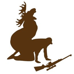Wholesale Wholesale Hunters - Handicrafts Vinyl Decals Car Stickers Glass Stickers Scratches Stickers Wall Die Cut Bumper Accessories Jdm Moose Hunting Hunter