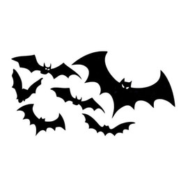 Wholesale Floating Body - 10*19CM Flocks of BATS Floating Car Stickers Reflective Decals Personalized Car Stickers Bat