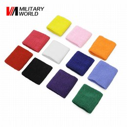 Wholesale Terry Cloth Sweatband Wholesale - Wholesale- Men & Women Sports Sweatband Tennis Squash Badminton Terry Cloth Wrist Sweat Bands Basketball Gym Wristband Crossfit Wrist Bands