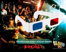 s6 edge plus smartphone Desconto Óculos de Papel 3D, Traga para o seu melhor efeito Visual, papel azul Vermelho 3D óculos estereoscópicos com choque visual 100% efeito visual 3D Navio livre