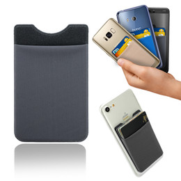 Wholesale Tablet Cases Slim - Slim 3M Flexible Lycra Self-Adhesive Wallet Credit Card Holder Phone Pocket Pouch for iphone Saumsung Tablet all Smartphones