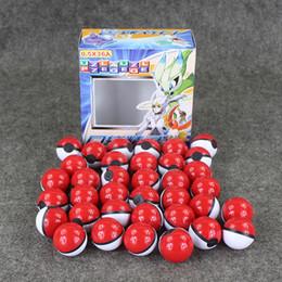 autocollant elf Promotion 36pcs / Lot Anime Cartoon Mini Ball Haute Qualité Pvc Ball Jouet Avec Free Elf Et Autocollants