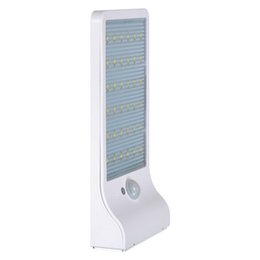 Wholesale Solar Chips Wholesale - Solar led light wall mounted for outdoor lighting 36pcs led chip 3.7V 2200mAH 6 hours duration with Daylight + motion sensor CE Approval