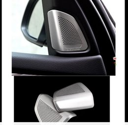Wholesale Bmw Inner - Inner Door A Pillar Tweeter High Speaker Cover 2pcs for BMW X5 X6 2014 2017