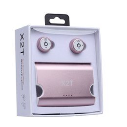 Wholesale Universal Iphone Charging Case - New X2T Mini Invisible Twins Wireless Bluetooth Headset earbuds CSR 4.2 Bluetooth Earphones with Magnetic Charging Case Bluetooth Headphone