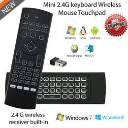 Wholesale Motion Mouse - MX3 X8 Backlit Mini Keyboard 2.4ghz Fly Air Mouse Remote Controller With Motion Sensor For Smart TV Android TV Box T95X X96