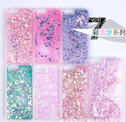 Wholesale Hard Case I5 - Floating Glitter Star Running Quicksand Liquid Dynamic Hard Case Shining Cover For For iPhone6S 6SPlus  iphone7 7Plus i5