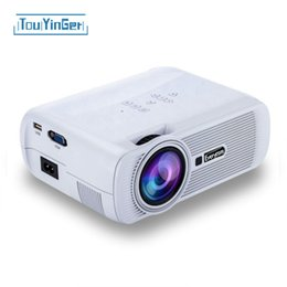 Wholesale led projektor full hd - Wholesale-Original Everycom X7 Mini LED TV Projector Hdmi Home Theater Beamer projektor Multimedia LCD Proyector Full Hd Video Projectors