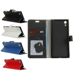 Wholesale Xperia Wallet - For iphone X Genuine Leather Wallet Case With Credit ID Card Holder Pocket Flip Cover For Sony Xperia X Z3 LG V20 Opp Bag