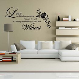 Love Without Flower Wall Quotes Etiquetas Decorativas de Vinilo Decorativas Decoración DIY desde fabricantes
