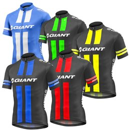 Wholesale Giant Shirts - 5 Colors Giant Cycling Tops 2017 Cycling Jerseys Summer Style Ropa Millot For Men Women Size XS-4XL Bike Wear T Shirt