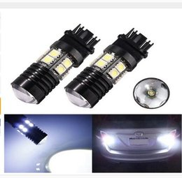 Wholesale Chip Beam - 3156 3157 T20 T25 Back Up Reverse Projector Cree+12-SMD Chip LED Lights Bulbs White Stop Tail Brake Turn Light Bulb