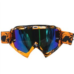 Wholesale helmet l xl - New Arrival KTM Motorcycle Goggles Professional KTM Motocross Helmet Racing Glasses Dirt Bike ATV MX Goggles