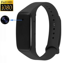 Wholesale Hidden Audio Recorders - 2017 NEW Arrive HD 1080P Sports Wearable Hidden Camera Smart Bracelet Camcorders Audio Video Recorder Mini DV Cam