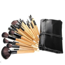 2019 despeje de pinceles de maquillaje Liquidación de Stock 32Pcs Print Foundation Blush Brush Cleaner Kits de cepillos para el pincel de maquillaje cosmético profesional ¡La mejor calidad! rebajas despeje de pinceles de maquillaje
