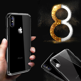 Wholesale Iphone Back Cover Transparent - For Iphone 8X 8 Iphone X case silicon S8 plus case cover clear back transparent soft iphone8 note8 case