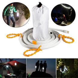 camping streifenlicht Rabatt IP65 1,5 Mt 5 V LED Wasserdicht Wandern Camping Notfall USB Licht Streifen Zelt Lampe Seil Warmes Weißes / Weißes Licht RGB Für Garage Projekt