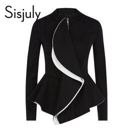 Wholesale Skirt Suit Ol - Wholesale- Sisjuly women jacket ruffles vintage black peplum coat autumn winter fashion tops gothic women coats ol style work suit jackets
