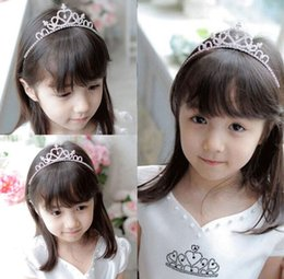 Wholesale Girls Crowns Tiaras - Hair Band Kid Girl Bridal Princess Prom Crown Headband COOL
