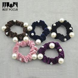 haarschmuck perlen Rabatt MLJY Imitationsperle Haarschmuck Elastische Haarbänder für Frauen Mode Haargummis Ornamente Dekorationen Gummibänder 50 teile / los