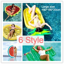 Wholesale Inflatable Toy Chair - 180CM Inflatable Pineapple Half Watermelon Lemon Cactus Pool Float Island Swimming Ring Board Water Toys Raft Bed Leisure Chair Air Mattress