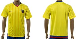 Cheap freeshipping-freeshipping - Ecuador National Team Soccer Jerseys Customized Personalized Any Name and Number Home Yellow Custom Football Shirts Kits Uniforms