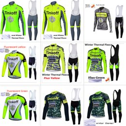 Wholesale Cycling Jersey Shorts Warmers - Tinkoff pro cycling jersey 2017 winter Fleece warm ropa ciclismo maillot ciclismo bicicleta bike cycling clothes roupa ciclismo set