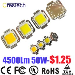 Wholesale Epistar Chip Led Cob - Free Shipping 100pcs Epistar Chip High Power LED COB LED 10W 20W 30W 50W 70W 80W 100W Cold White 6000-6500K On Stock